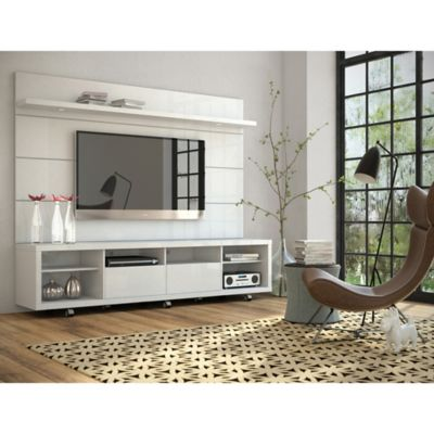 Manhattan Comfort Cabrini 2.2 TV Panel in Nut Brown