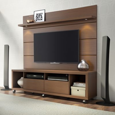 Manhattan Comfort Cabrini 1.8 TV Stand and Panel in Nut Brown