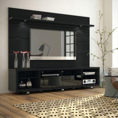Manhattan Comfort Cabrini TV Stand and Panel 2.2 in Black