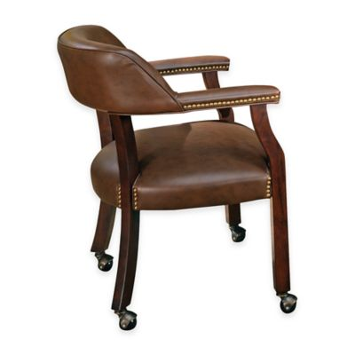Steve Silver Tournament Captain's Chair in Brown
