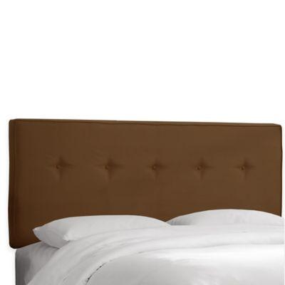 Skyline Furniture Ashland Twin Headboard in Premier Chocolate