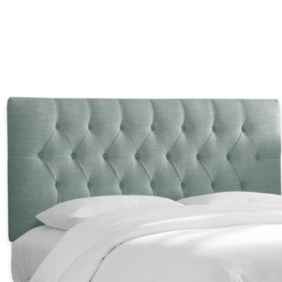 Skyline Furniture Bishop Twin Headboard in Linen Taupe