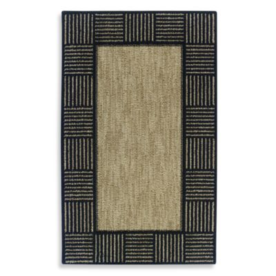 Horizon Block Border 5-Foot x 8-Foot Room Size Rug in Black