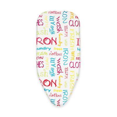 Bonita Bright Text Small Ironing Board Cover