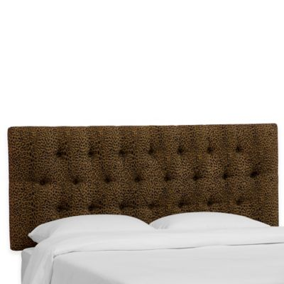 Skyline Furniture Bishop Twin Headboard in Cheetah Earth