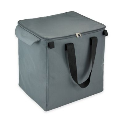Thermal Shopping Cart Insert Bag in Grey