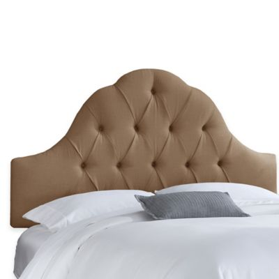 Skyline Furniture Dearborn California King Headboard in Linen Taupe