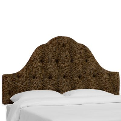 Skyline Furniture Dearborn Queen Headboard in Cheetah Earth