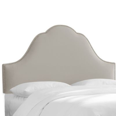 Skyline Furniture Congress Twin Headboard in Premier Platinum