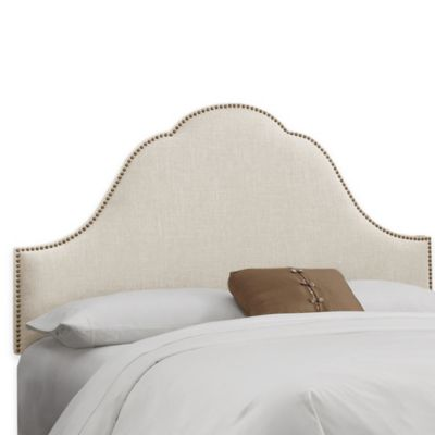 Skyline Furniture Congress Full Headboard in Linen Talc