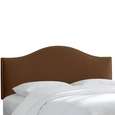 Skyline Furniture Hinsdale Twin Headboard in Premier Chocolate