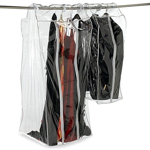 Frameless Crystal Clear Vinyl Clothing Storage Bags