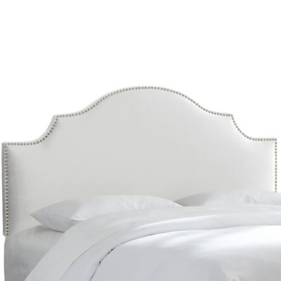 Skyline Furniture Sheffield Twin Headboard in Velvet Light Grey