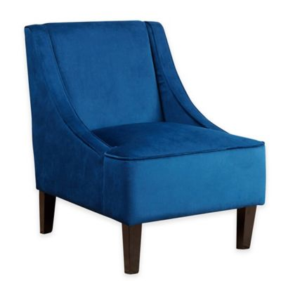 Abbyson Living® Carlton Swoop Chair in Navy