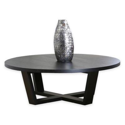 Abbyson Living® Heritage Round Coffee Table in Espresso