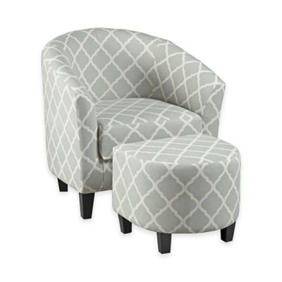 Pulaski Columbus Accent Tub Chair with Ottoman