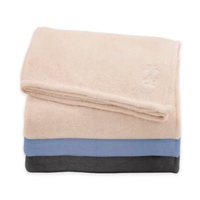 Izod® Plush Full/Queen Blanket in Chambray Blue