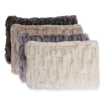 Thro Josephine Faux-Fur Throw in Off White
