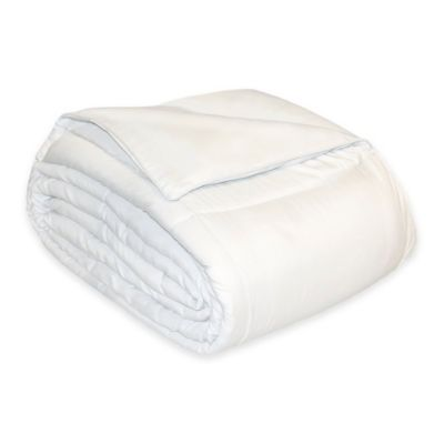 Reversible Cotton Twill Twin Down Alternative Comforter in White