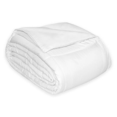 700-Thread-Count Reversible Cotton Sateen Twin Down Alternative Comforter in White
