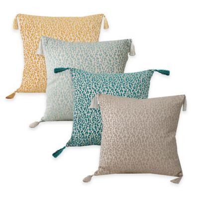 Thro Gabriella Cheetah Square Throw Pillow in Simple Taupe