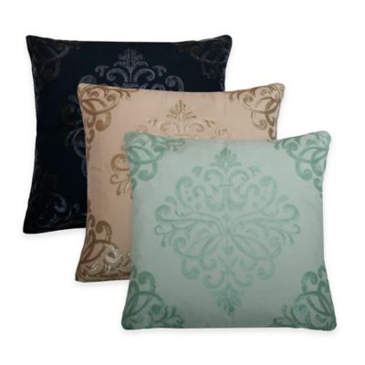 Thro Quinn Trellis Square Pillow in Teal