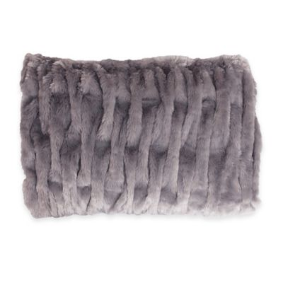Silver Faux Fur Decor
