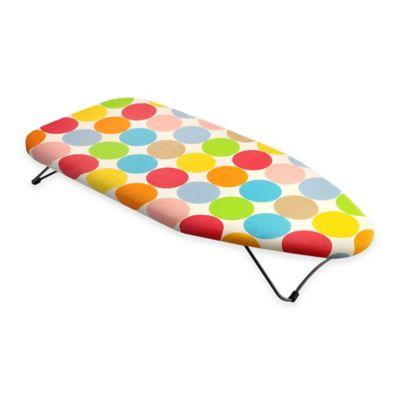 Bonita Mini Tabletop Ironing Board in Polka Dots