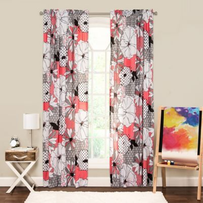 Crayola® Flower Patch 84-Inch Rod Pocket Window Curtain Panel