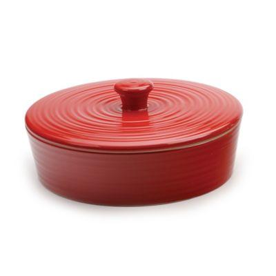RSVP 8-Inch Glazed Tortilla Warmer in Red