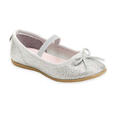 carter's® Ruby Glitter Ballet Flat in Silver