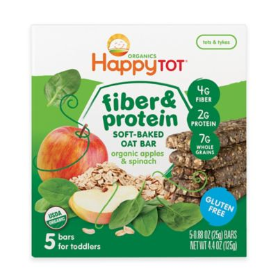 Food > Happy Baby™ Happy Tot™ Organic 5-Pack Apples and Spinach Soft-Baked Oat Bars