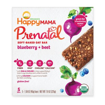 Happy Baby Mama® Prenatal 5-Pack Carrot, Blueberry and Beet Soft-Baked Oat Bars