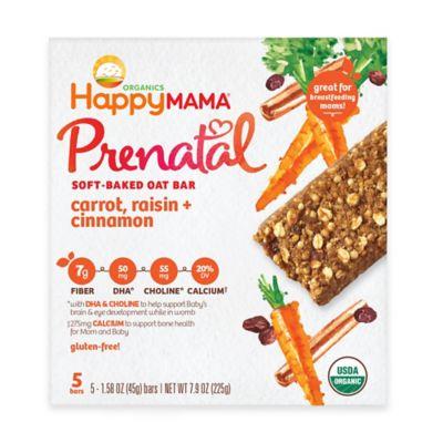 Happy Baby Mama® Prenatal 5-Pack Carrot, Raisin, and Cinnamon Soft-Baked Oat Bars