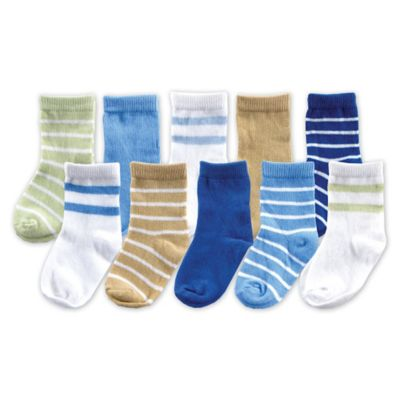 BabyVision® Luvable Friends® Size 0-6M 10-Pack Boys Sock Gift Set