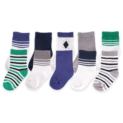 BabyVision® Luvable Friends® Size 09-M 10-Pack Boys Sock Gift Set