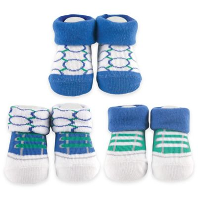 BabyVision® Yoga Sprout Size 0-6M 3-Pack Sock Gift Set in Blue