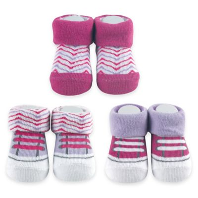BabyVision® Yoga Sprout Size 0-6M 3-Pack Sock Gift Set in Purple