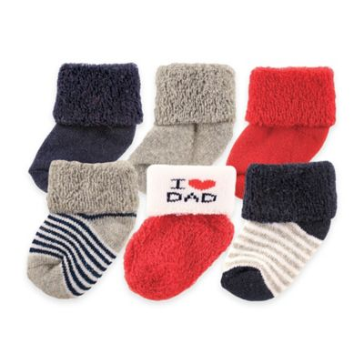 "BabyVision® Luvable Friends® 6-Pack "" I Love Dad"" Socks"