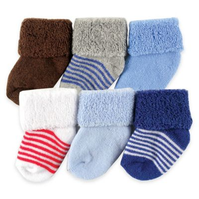 Blue Newborn Socks