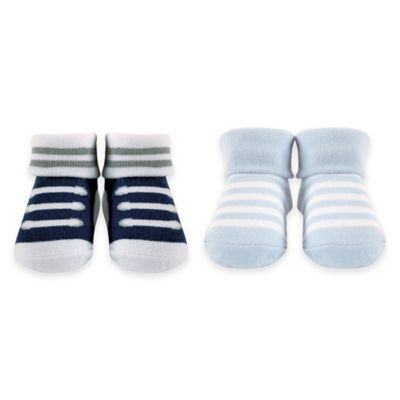 BabyVision® Luvable Friends® Size 0-9M 2-Pack Baby Socks in Blue