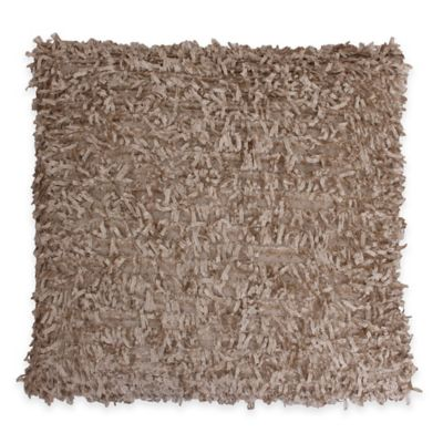 Thro Fred Falling Fringe Square Pillow in Tan