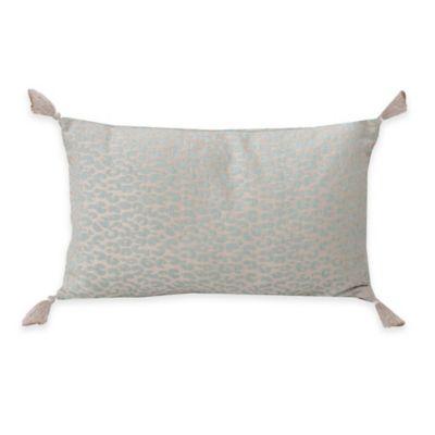 Thro Gabriella Cheetah Oblong Pillow in Blue