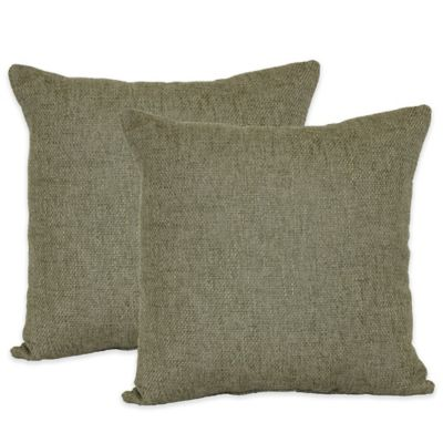 Jasper Throw Pillows in Olive (Set of 2)