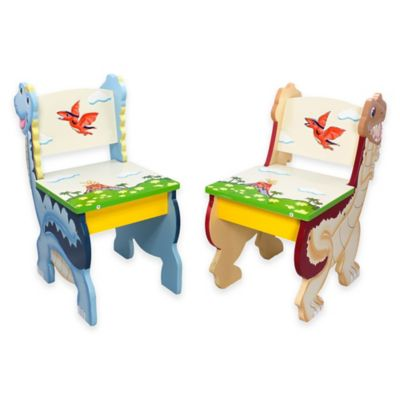 Teamson Fantasy Fields Dinosaur Kingdom Kids Chair (Set of 2)