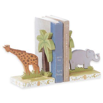 Teamson Fantasy Fields Safari Animals Alphabet Bookends Set