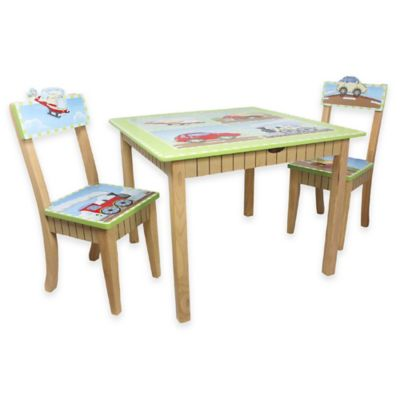 Teamson Fantasy Fields Transportation Kids Table and Chairs Set