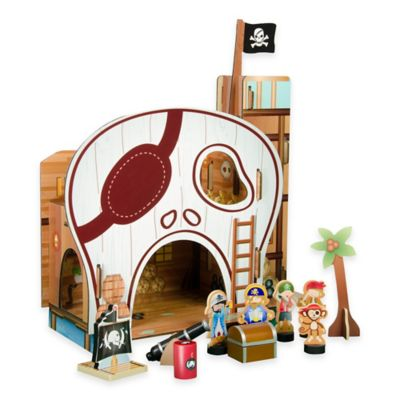 Teamson Kids Pirate Wooden Table Top Play Set