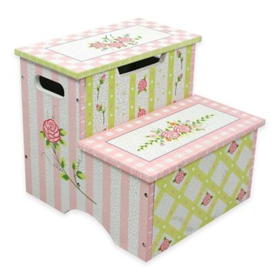 Teamson Fantasy Fields Crackled Rose Kids Step Stool