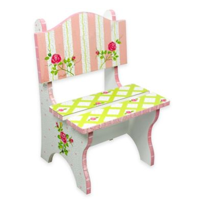 Teamson Fantasy Fields Crackled Rose Kids Mini Chair